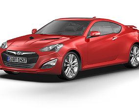 3D model 2013 Hyundai Genesis Coupe