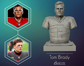 3D printable model Tom Brady with Tampa Bay Buccaneers