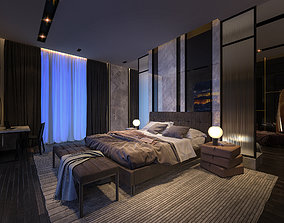Luxury Studio Bed Room Apartment 3Ds Max and Vray