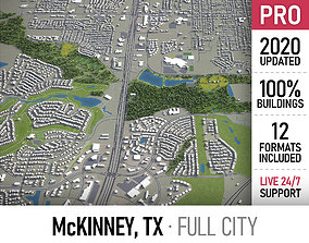 3D asset McKinney - Dallas - city and surroundings