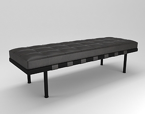 3D model minimalism barcelona bench