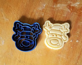 Reindeer cookie cutter 3D print model