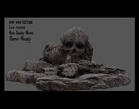 steps Skull Cave 3D model