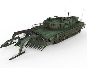 3D model Tank Abrams MinePlow Extra Defense Green
