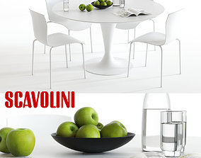 3D Scavolini Nomo and Chatty Dining Set
