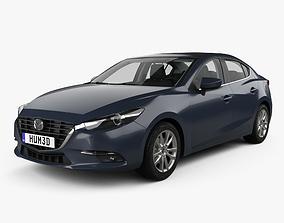 3D model Mazda 3 BM sedan with HQ interior 2017