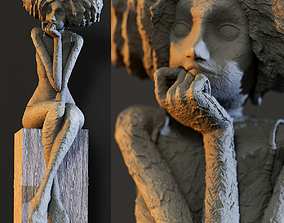 Valerie Hadida Melancolia Sculpture 3D model