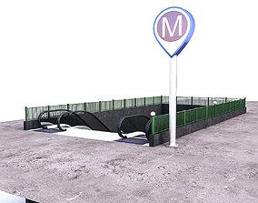 Subway Entrance 3D asset