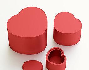 Heart box for gift 3D print model