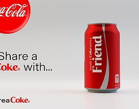 Free Coke Can 3D asset