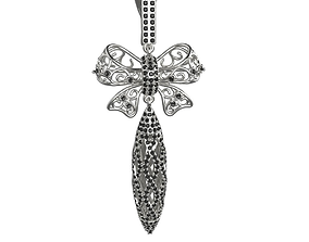 3D print model Heavy evening bow-knot earrings