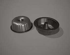 Black Funnel - Bundt Cake Tin 3D asset