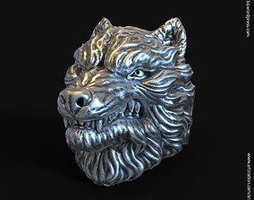 3D printable model wolf vol1 ring