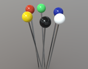 Pin or Pins 3D asset