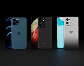 Collection Of Top and Latest Smartphones 3D model