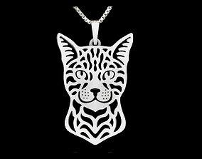 nature Cat Pendant 3d Print Model