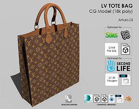 LV Tote bag 3D model