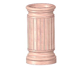 vase from a historical fragment of a column for 2
