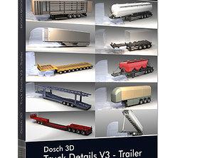 container Dosch 3D - Truck Details V3 - Trailer
