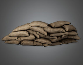 MLT - Military Sandbag Stack 02 - PBR Game Ready 3D model