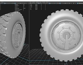 wheel 3D model truck