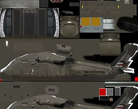 uh 60 blackhawk helicopter 3D