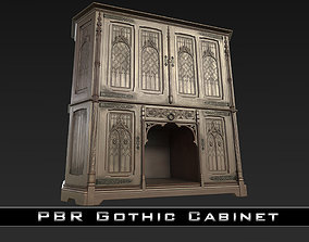 PBR Gothic Cabinet 3D model