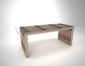 Coffee Table Wood 3D
