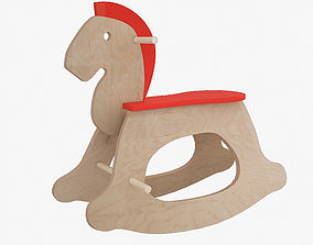 Rocking horse 3D model entertaiment