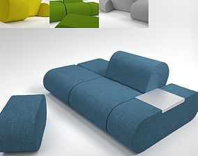 3D model Soft Line Heart Sofa Blender Cycles