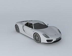 3D model 2015 Porsche 918 Spyder