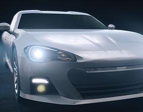 Toyota 86 sports car 3D model