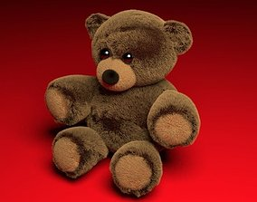 Teddy bear 3D asset animated