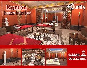 Roman house interior 3D asset