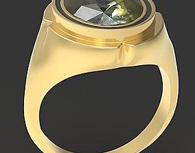 oval ring 3D printable model gem