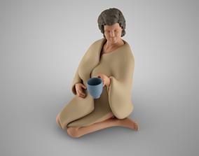 Girl in Blanket 3D printable model
