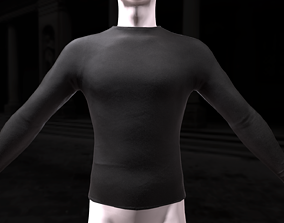 3D model Mens tight longsleeve 2 color variations and 2