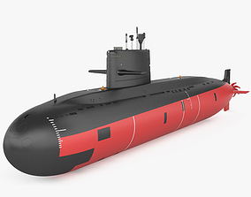 Type 039A submarine 3D
