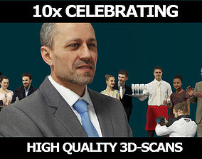 3D model 10x Gobotree Foreground Celebrating Business 2