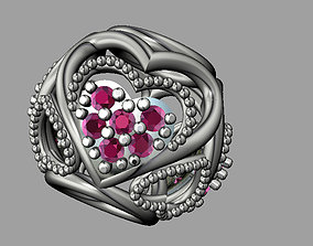 3D printable model Diamond Valentine Bead