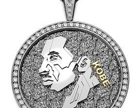 Kobe Medallion Pendant 3D print model