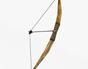 Wooden bow 3D asset