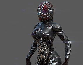 3D model Armored girl