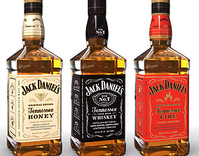 3D model Jack Daniels Bottle Set