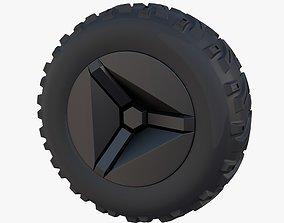 3D model Tesla Cyberquad ATV Wheel 2