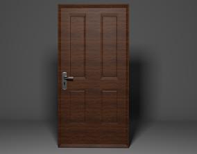 3D model keyhole Wooden door