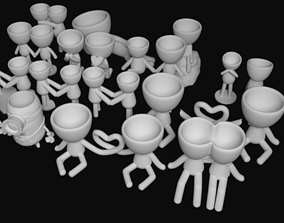 Pack with 35 POTS Robert Plant Style for 3D printing
