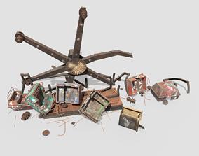 3D model Destroyed Ferris Wheel
