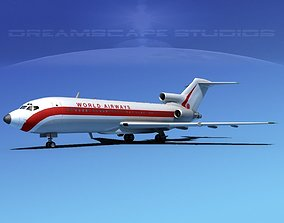 3D Boeing 727-100 World Airways