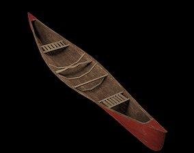3D model low-poly Canoe